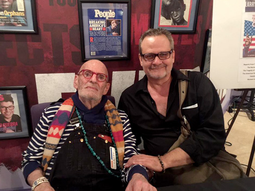 Daniel Wasinger with Larry Kramer